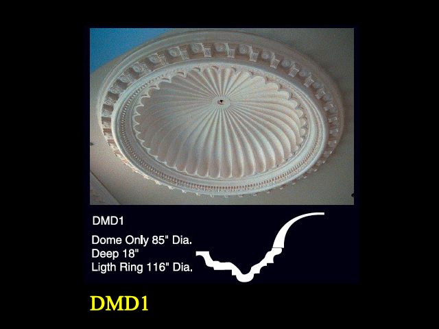 Decorative Dome with Greek Shell Center | Ceiling Domes ... |Plaster Domes